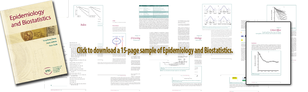 Click to download/open 15-page PDF of sample pages extracted from iPRI's textbook Epidemiology and Biostatistics.