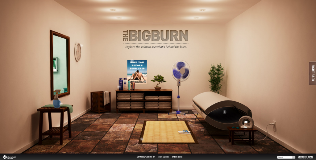 The Big Burn homepage