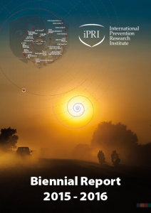 Front cover of the iPRI 2015-2016 Biennial Report