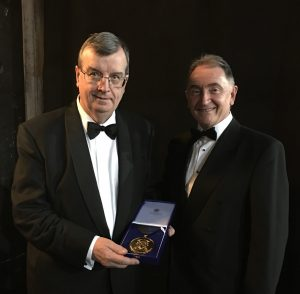 Professor Boyle with Sir Jim McDonald, the Principal of Strathclyde University.