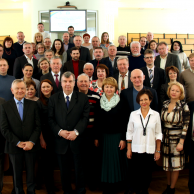 Professor Boyle at MOU signing in the Ukraine
